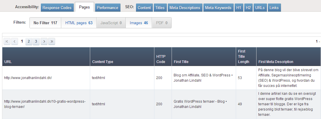 Ahrefs - SEO Reports - Pages
