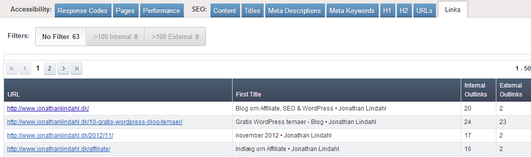 Ahrefs - SEO Reports - Links