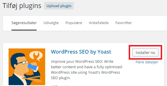 Installer WordPress SEO