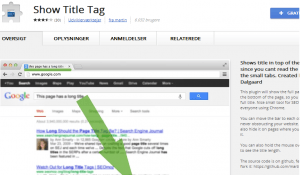 Show title tag