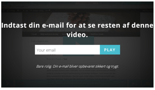 Video - E-mail form